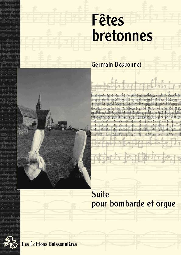 Desbonnet partitions Fêtes bretonnes pour bombarde & orgue
