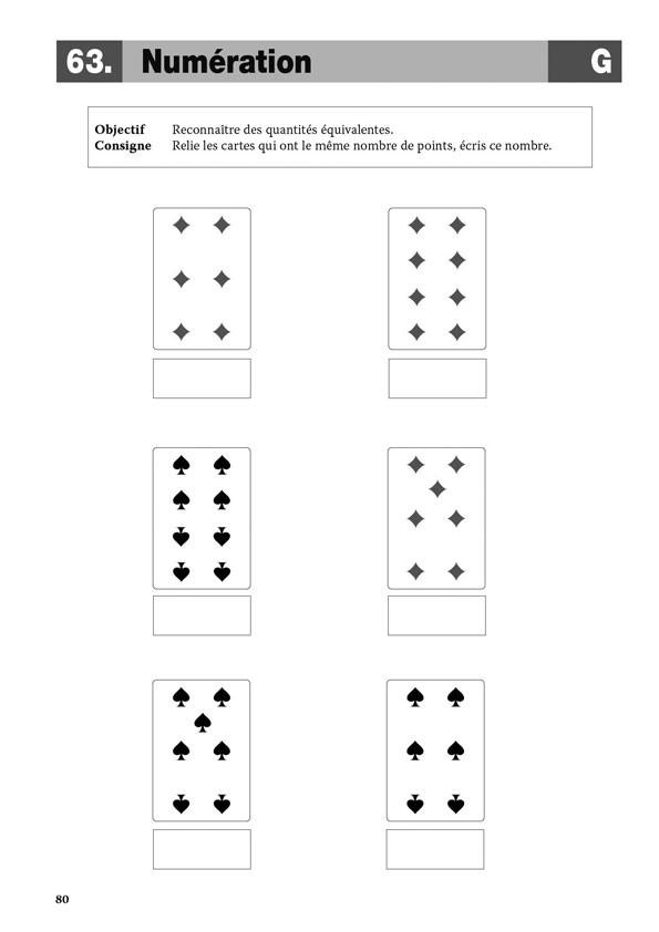 Fabuleux J'apprends avec les cartes à jouer en maternelle - Scop Les  HD63