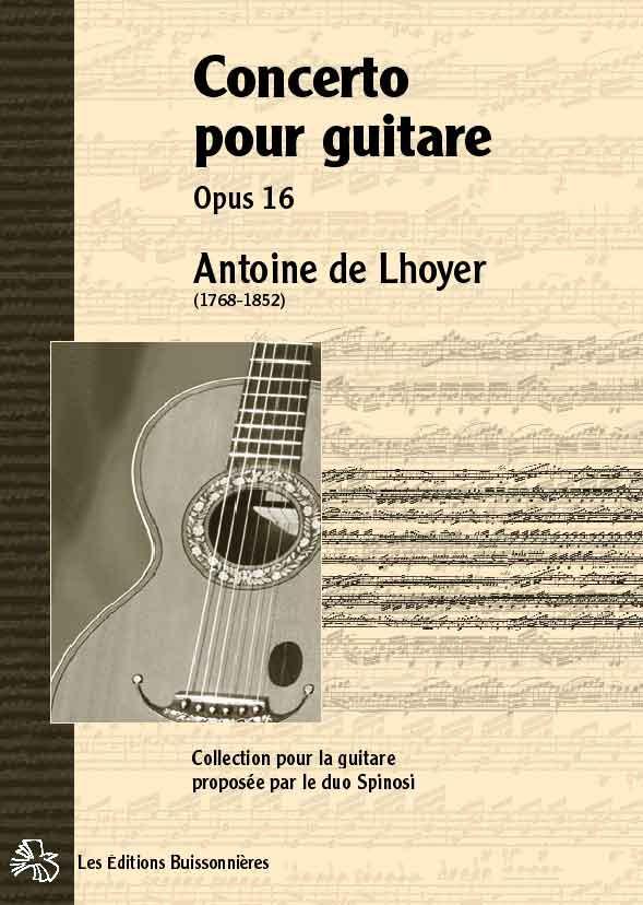 De Lhoyer Concerto pour guitare avec piano opus 16