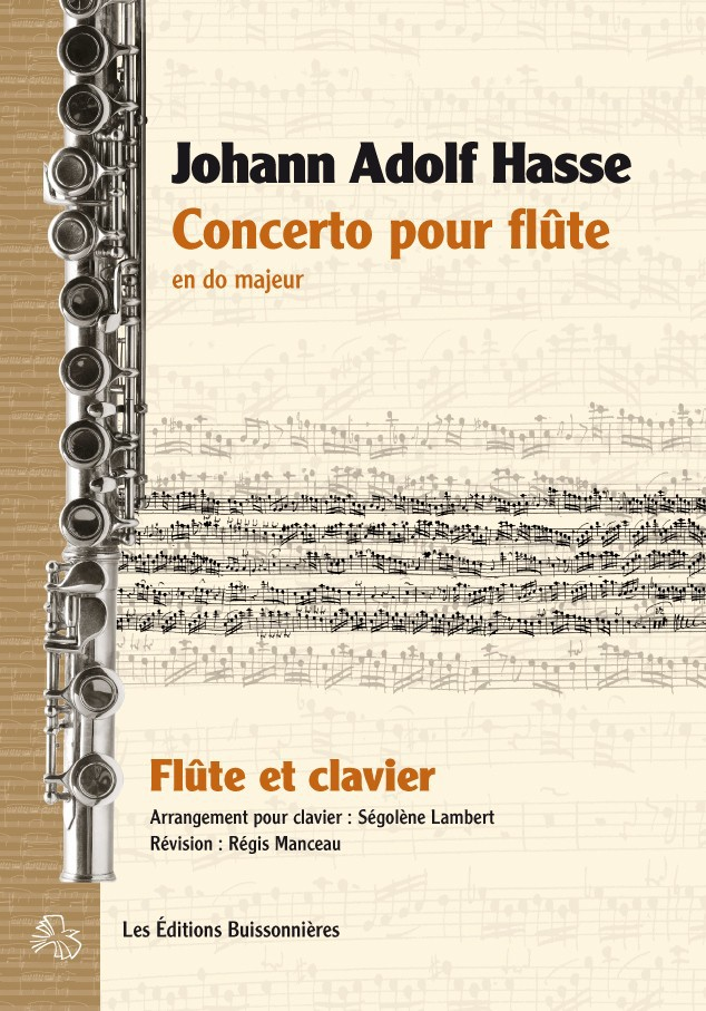 Johann Adolf HASSE (1699-1783)  : Concerto pour flûte moderne & piano