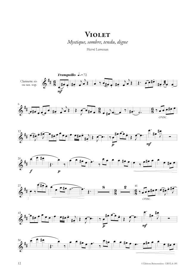 Hervé LESVENAN : Arcobaleno, pour instrument à vent et piano (avec CD)