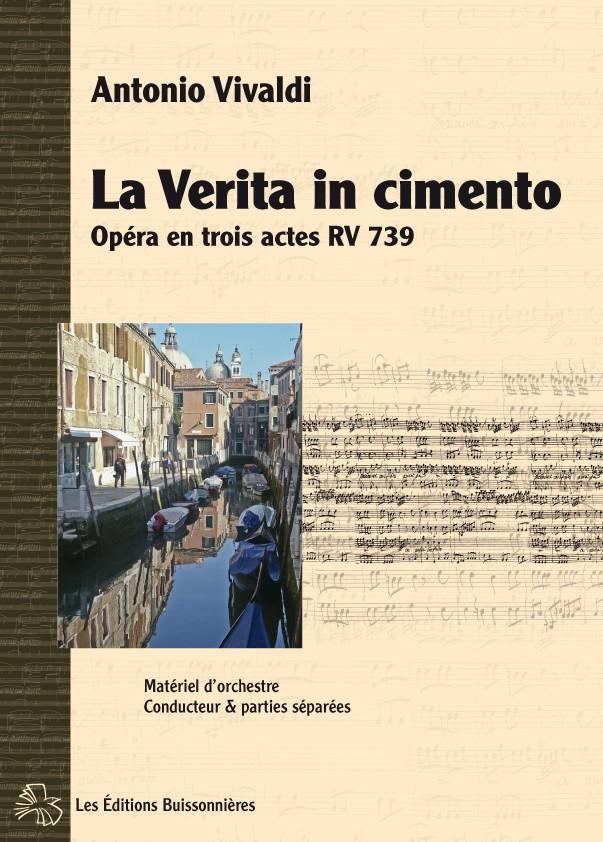 Vivaldi : La Verita in Cimento, opéra RV 739 matériel d'orchestre