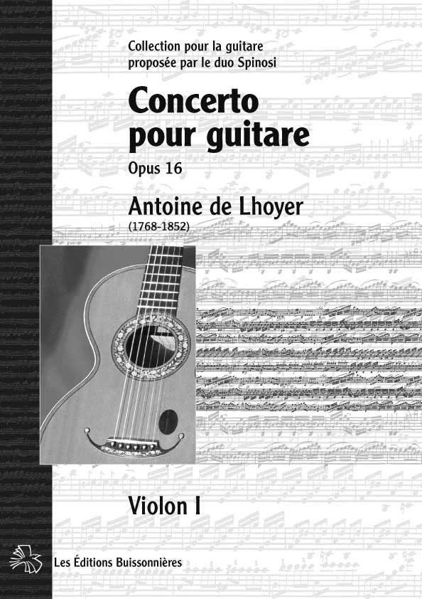 De Lhoyer, Concerto pour guitare, matériel d'orchestre : parties séparées