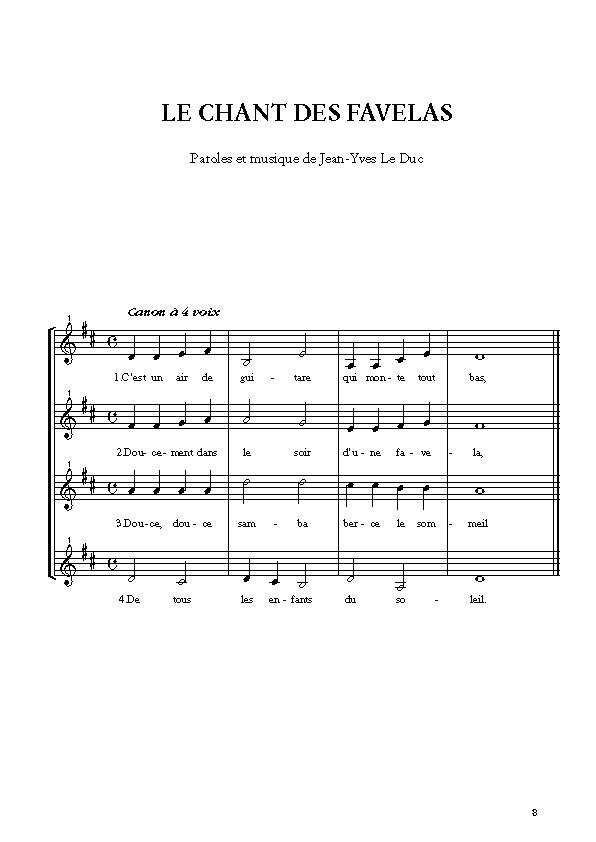 Partition Swing Mômes, [I]Les canons qui balancent[/I]