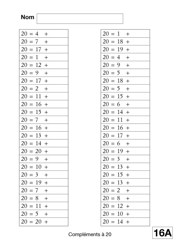 Exercices tables de multiplication exercices en ligne for Table de calcul