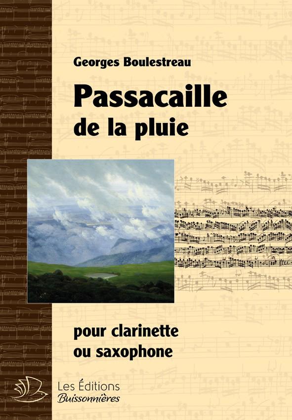 Passacaille de la pluie pour clarinette ou Saxophone