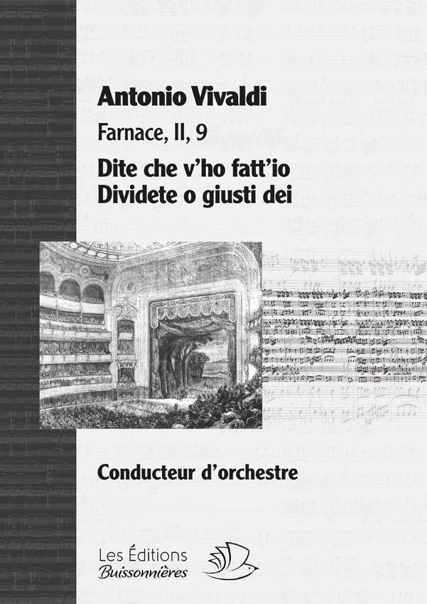 Vivaldi : Dite che v'ho fatt'io - Dividete o giusti dei, matériel d'orchestre