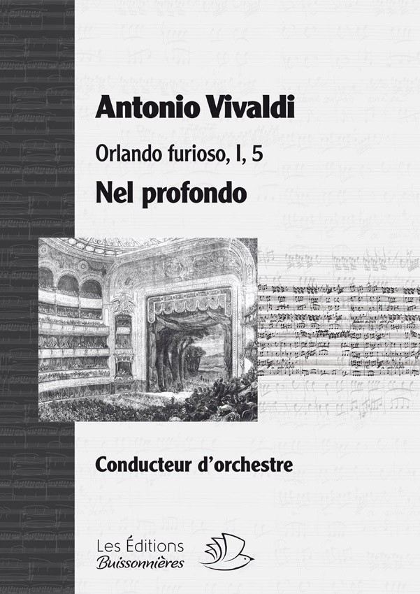 Vivaldi : Nel profondo (Orlando furioso), matériel d'orchestre