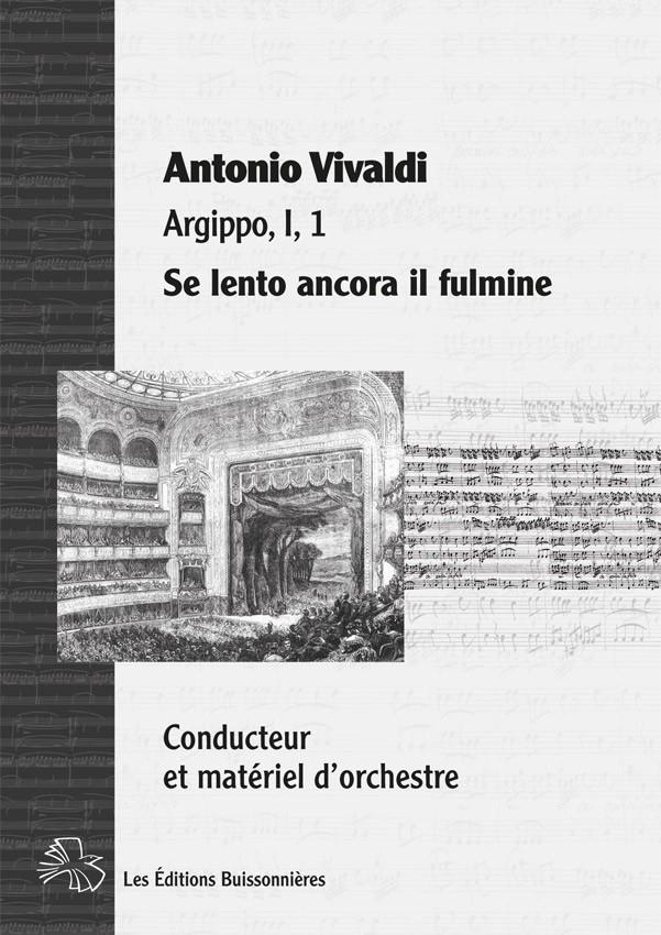 Vivaldi : Se lento ancora (Argippo), conducteur & matériel d'orchestre