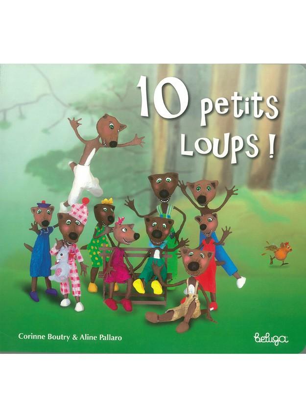 """10 petits loups, un livre à """" décompter """""""