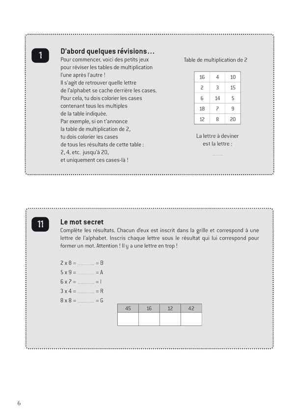 R viser les tables en s 39 amusant scop les editions - Reviser ses tables de multiplications ...