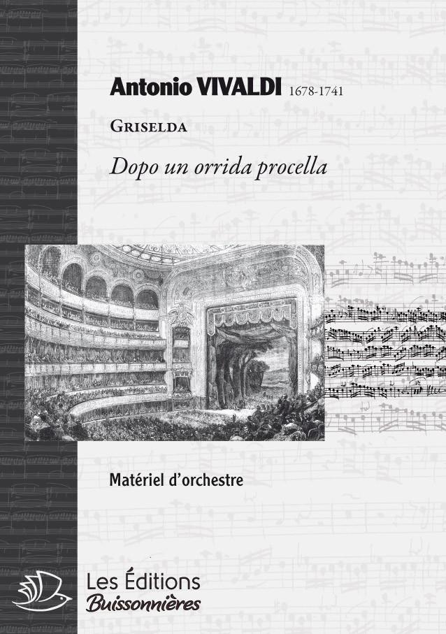 Vivaldi, Dopo un orrida procella (GRISELDA, III, 6), chant & orchestre