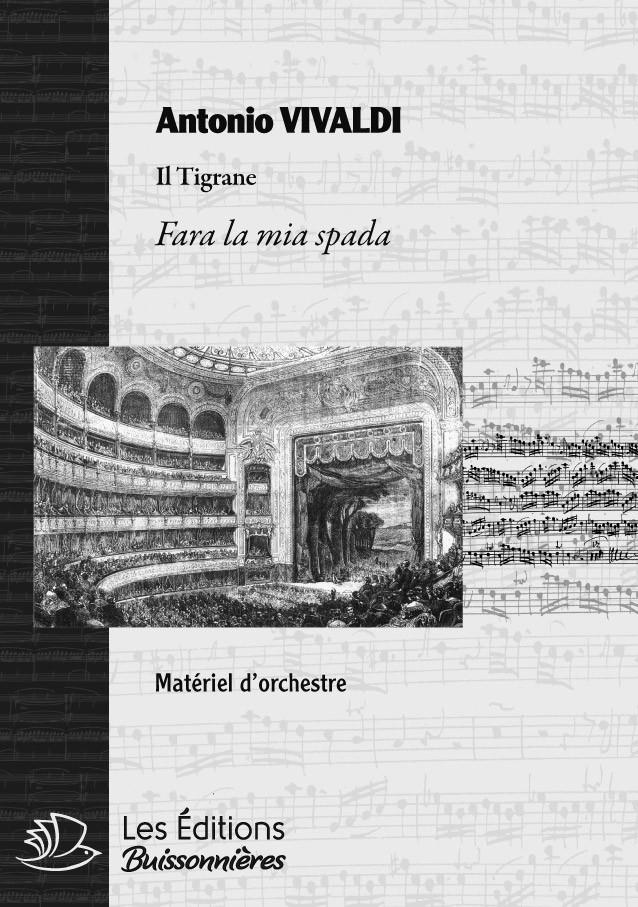 Vivaldi : Fara la mia spada, matériel d'orchestre