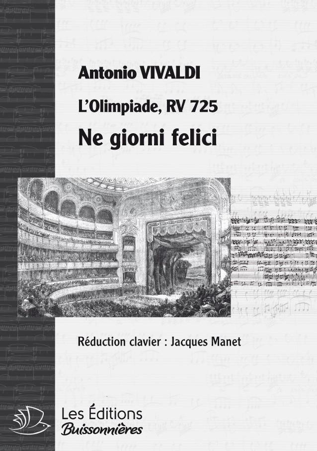 Vivaldi : DUO Ne giorni tuoi felici (Vivaldi, L'Olimpiade) réduction piano