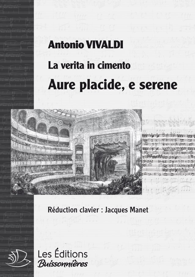 Vivaldi : TRIO Aure placide, e serene (Vivaldi, La verita in cimento) réduction piano