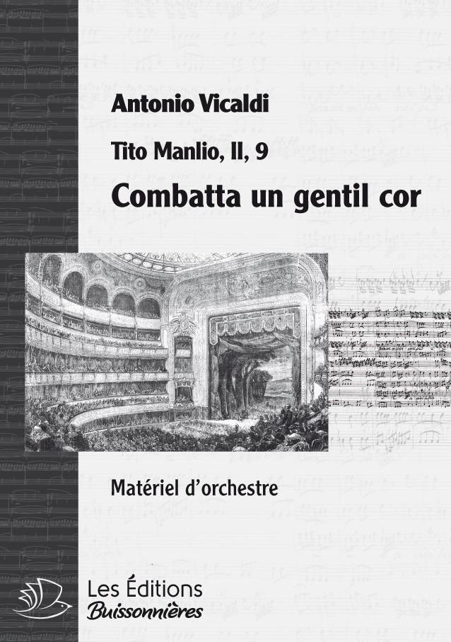 VIVALDI : Combatta un gentil cor, chant, trompette & orchestre