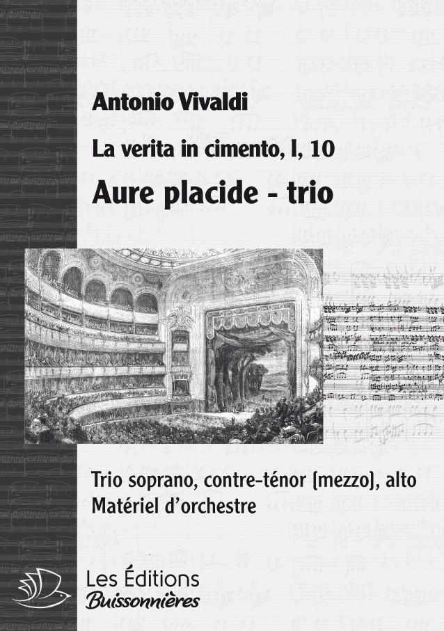 Vivaldi : TRIO Aure placide, e serene (Vivaldi, La verita in cimento) matériel d'orchestre