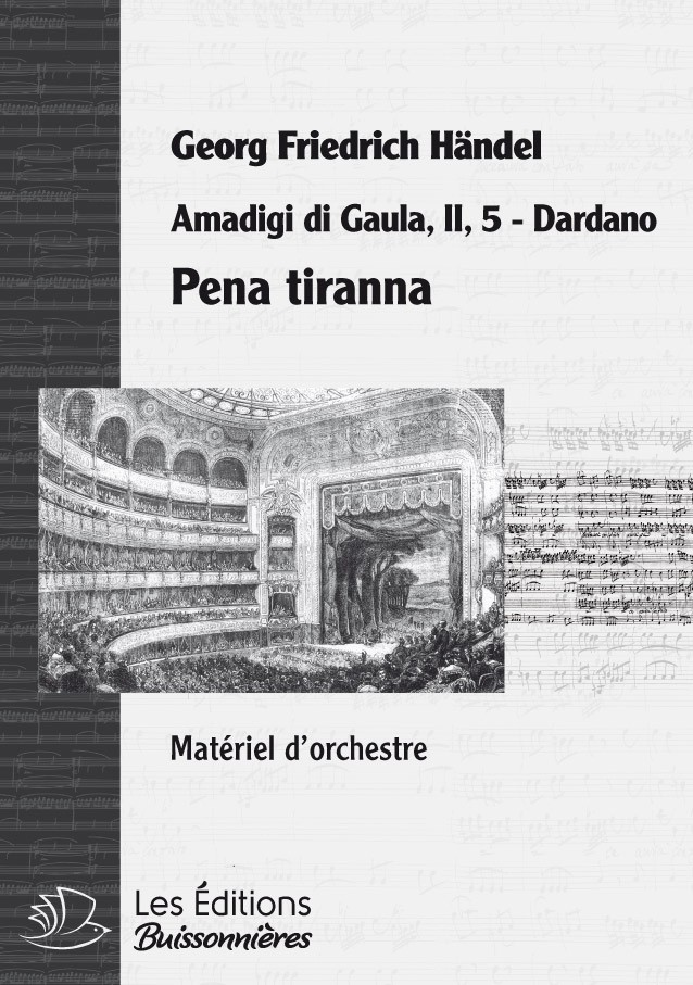 Handel : Pena tiranna, chant et orchestre