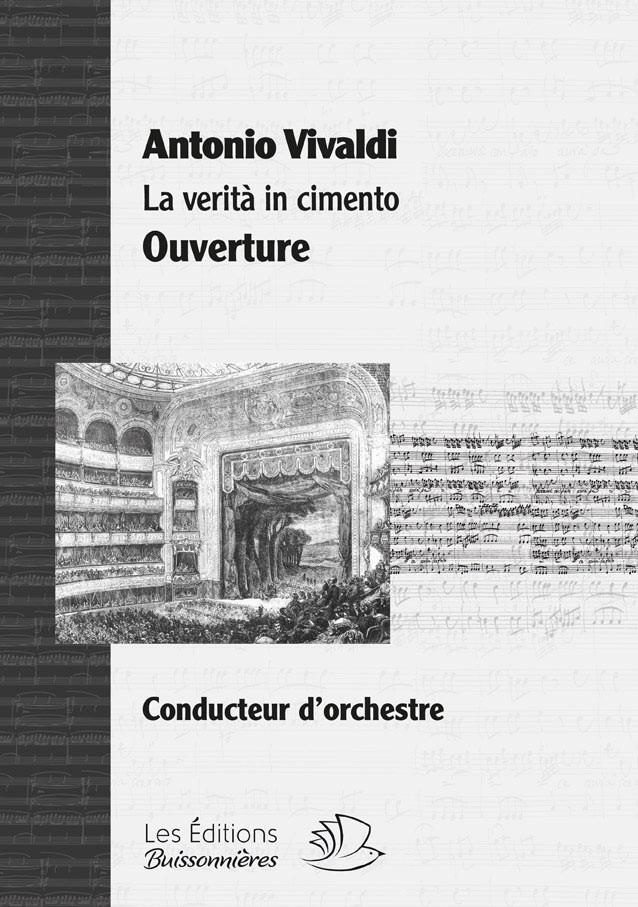 Vivaldi : La Verità in cimento, sinfonia d'ouverture, matériel d'orchestre