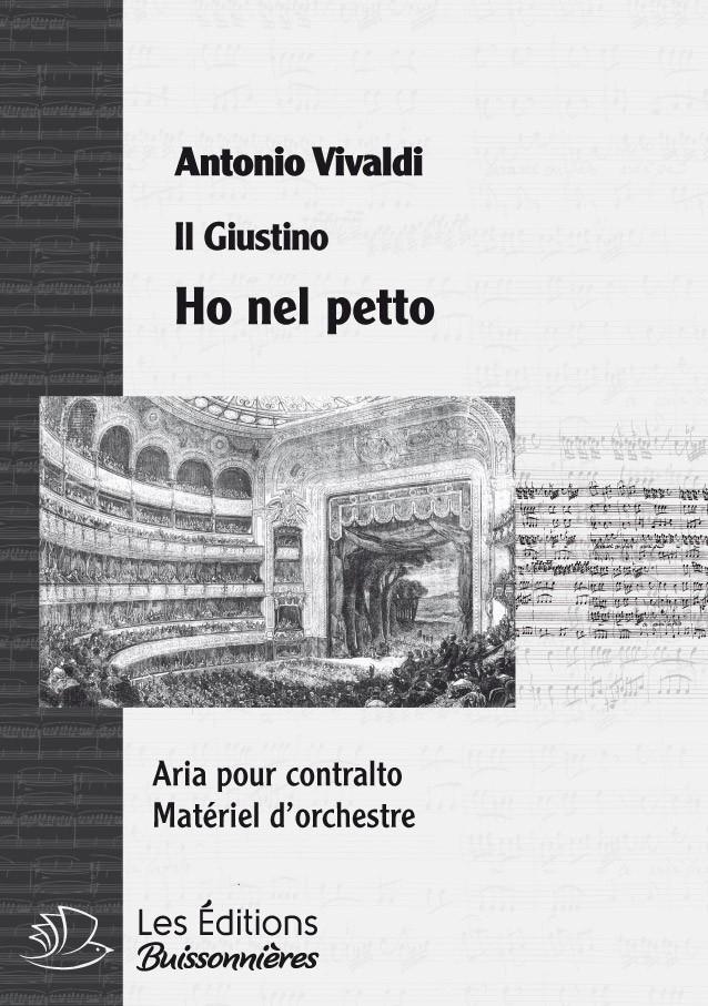 Vivaldi : Ho nel petto un cor si forte (Giustino), chant et orchestre