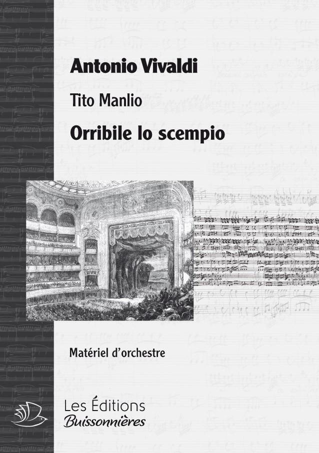 Vivaldi : Orribile lo scempio (Tito Manlio) Matériel d'orchestre