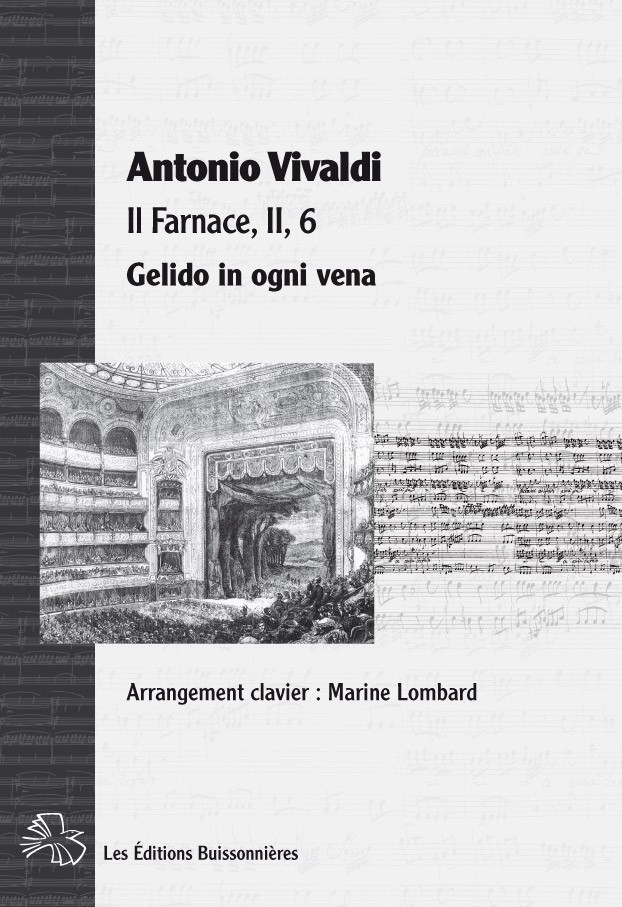 Vivaldi : Gelido in ogni vena (Farnace), réduction clavier