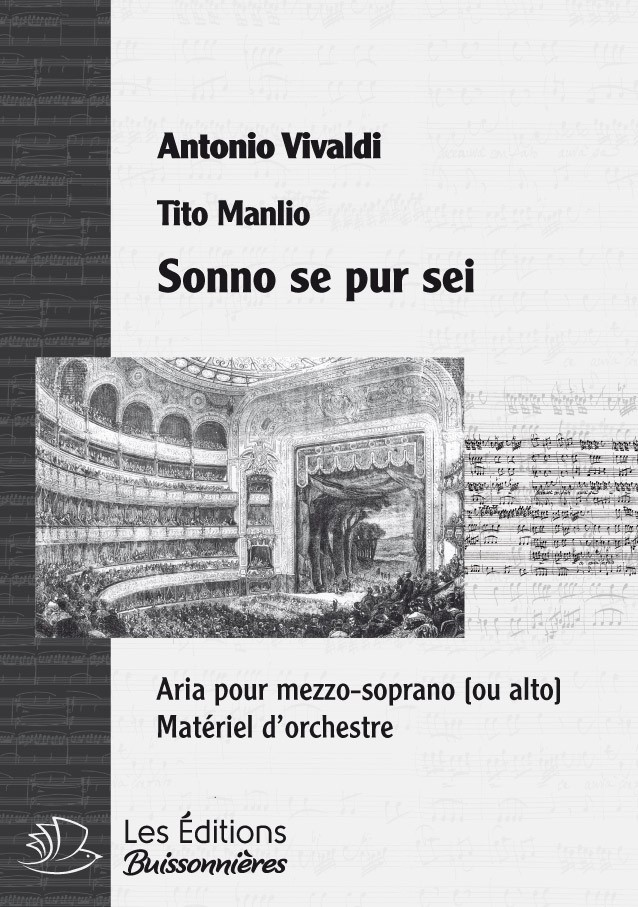 Vivaldi : Sonno se pur sei (Tito Manlio) Matériel d'orchestre