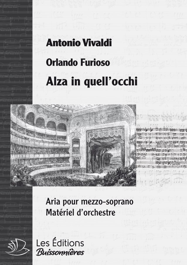 Vivaldi : Alza in quegl'occhi (Orlando furioso), conducteur & matériel d'orchestre