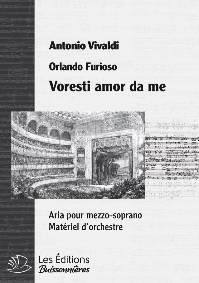 Vivaldi : Voresti amor da me (Orlando furioso), conducteur & matériel d'orchestre