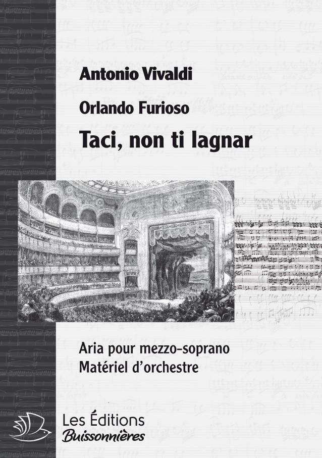 Vivaldi : Taci, non ti lagnar (Orlando furioso), conducteur & matériel d'orchestre