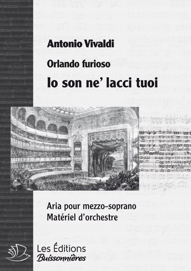 Vivaldi : Io son ne' lac tuoi (Orlando furioso), conducteur & matériel d'orchestre