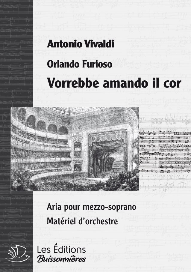 Vivaldi : Vorrebbe amante cor (Orlando furioso), conducteur & matériel d'orchestre