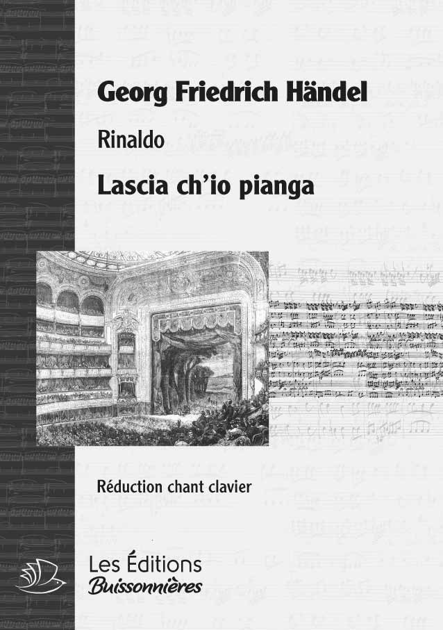 Händel : Lascia ch'io pianga, chant et clavier