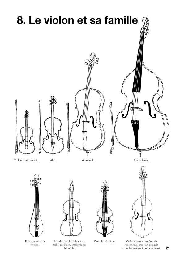 Les instruments de musique, livret avec CD