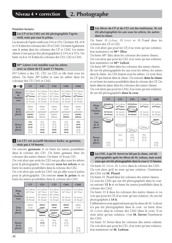 Jeux de logique ce2 vw37 jornalagora for Tableau logique