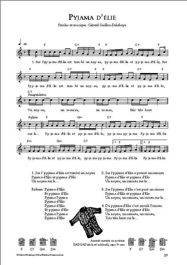 Delahaye [I]Hop là[/I] partitions de 30 chansons