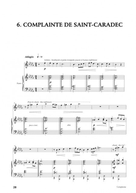 Desbonnet [I]Fêtes bretonnes[/I] pour clarinette et piano