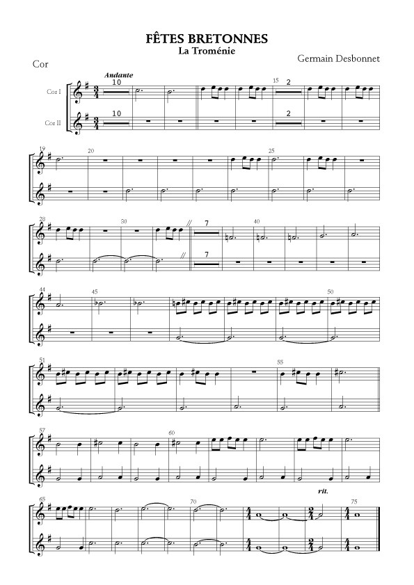 Germain Desbonnet [I]Fêtes bretonnes[/I] pour orchestre