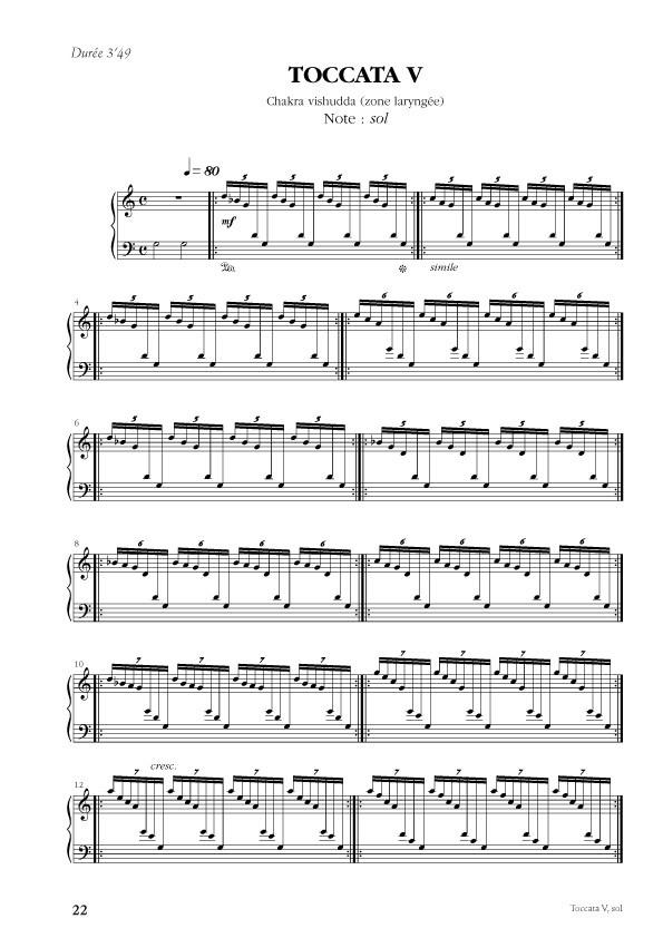 Desbonnet [I]Sept toccatas sur les chakras pour piano[/I]