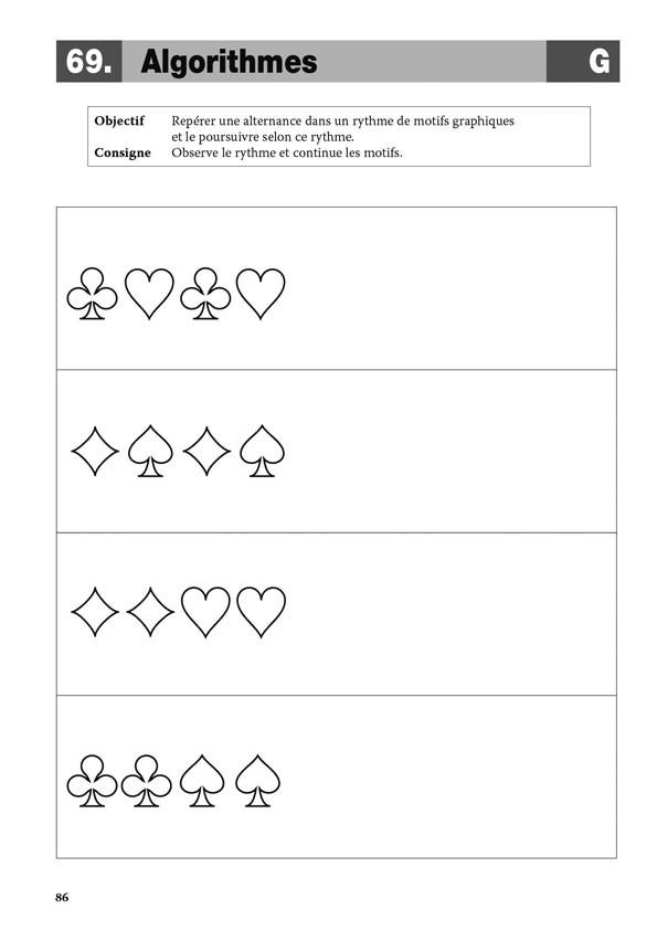 Apprendre avec les cartes à jouer en maternelle