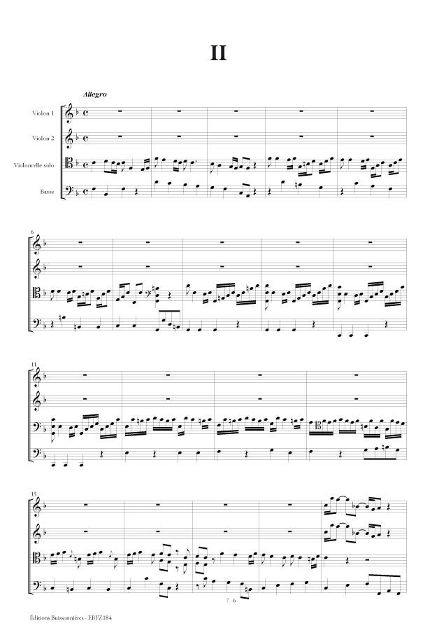 Nicolò FIORENZA (1700-1764) : concerto pour violoncelle en Fa Majeur - matériel d'orchestre