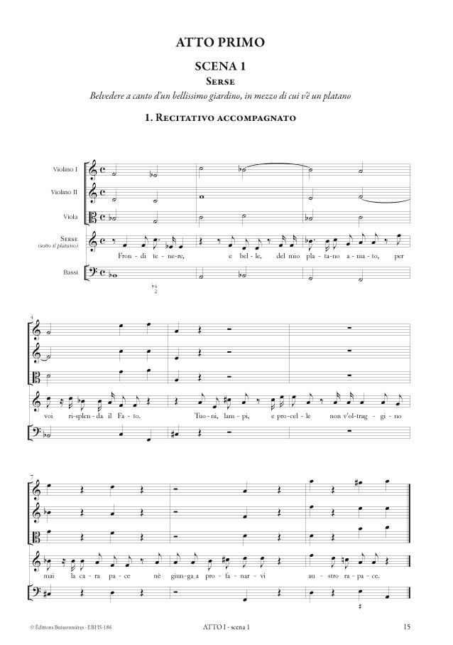 Serse (opéra de Georg Friedrich Händel HWV40) matériel d'orchestre