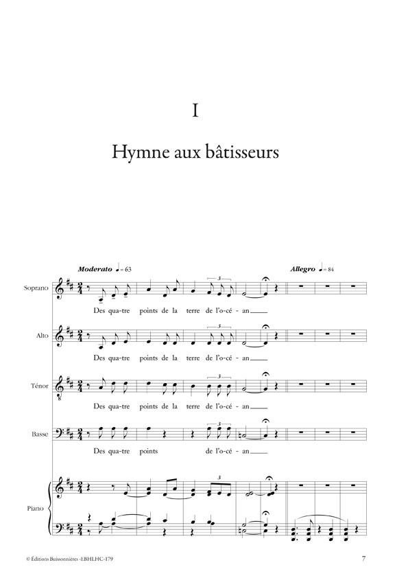 Hymne aux bâtisseurs, ch?ur