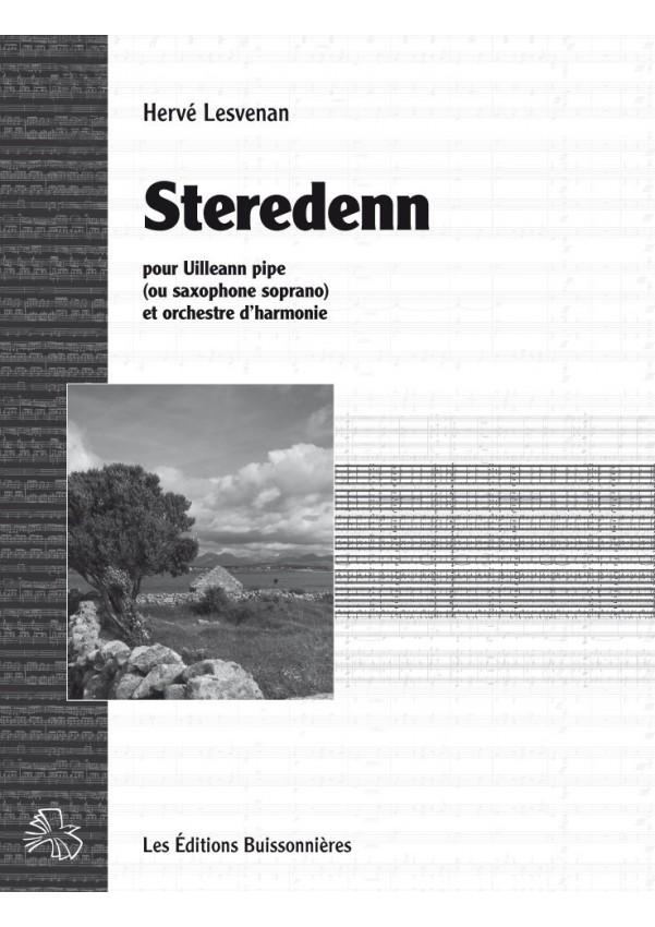 Lesvenan : Steredenn pour Uillean pipes (ou saxophone soprano) et grand orchestre d'harmonie