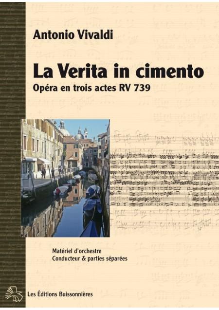 Vivaldi La Verita in Cimento, opéra RV 739 matériel d'orchestre