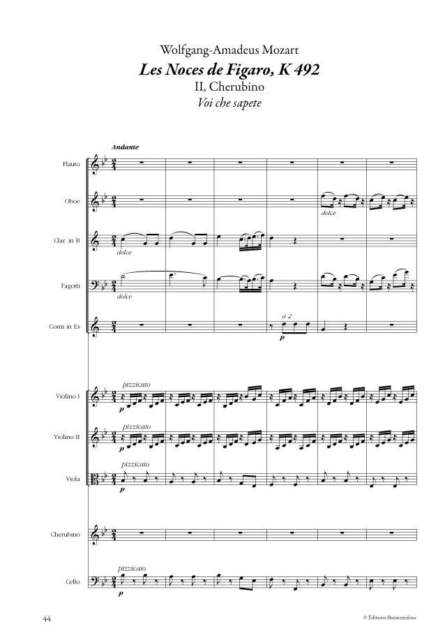 Wolgang Amadeus MOZART : Airs & duos d'opéras