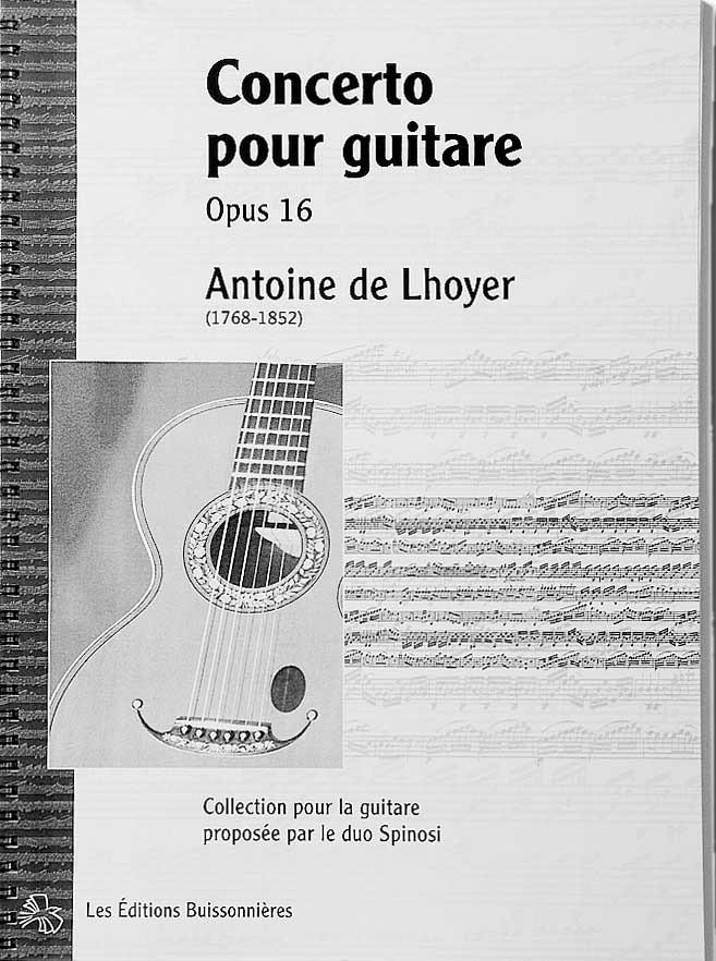 De Lhoyer, Concerto pour guitare, conducteur d'orchestre