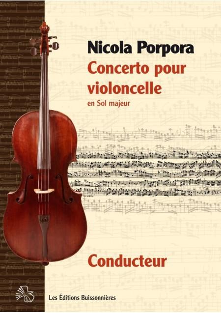 Nicola PORPORA (1686-1768) : concerto pour violoncelle en Sol Majeur