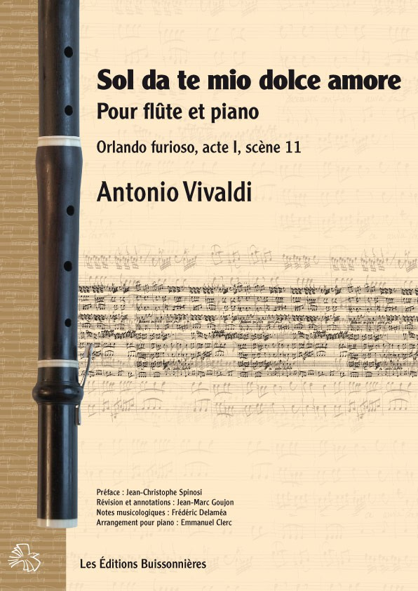 Vivaldi : Sol da te, mio dolce amore (Orlando furioso), flûte et piano