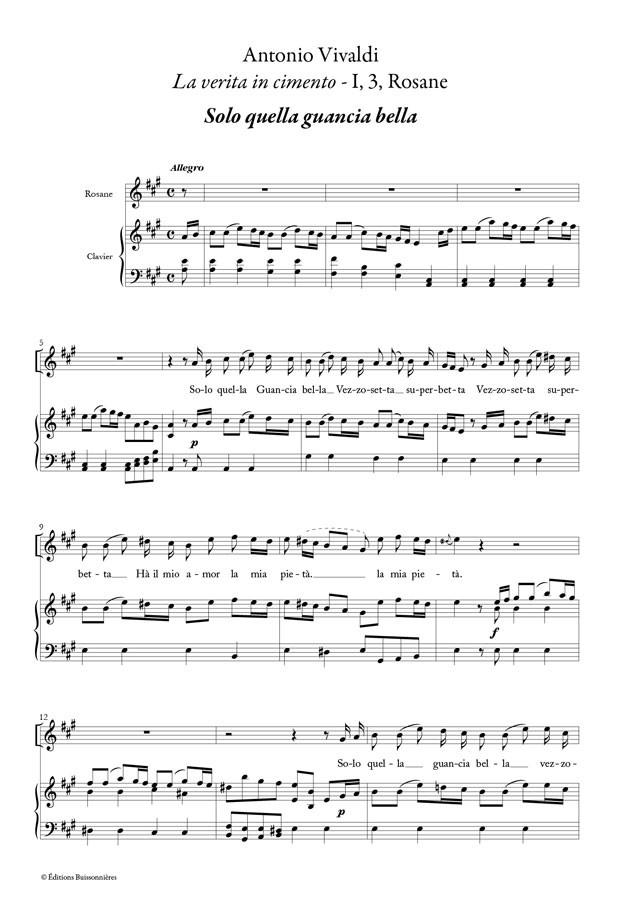 Vivaldi : Solo quella gancia bella (La Verità in cimento)